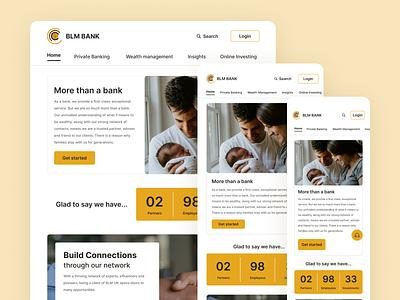 """BLM Bank"" Website Redesign bank website bank webdesign redesign uiux application minimal app ux uidesign design ui"