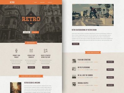 Freebie PSD+Sketch: Retro (Responsive Html Email Newsletter) campaignmonitor download email freebie html mailchimp newsletter psd rocketway sketch template themeforest