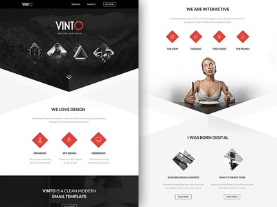 Freebie PSD+Sketch: Vinto (Responsive Html Email Newsletter) themeforest template sketch rocketway psd newsletter mailchimp html freebie email download campaignmonitor