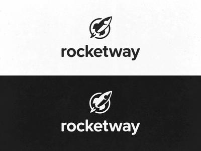 RocketWay Logo Update update redesign script logo lettering rocketway