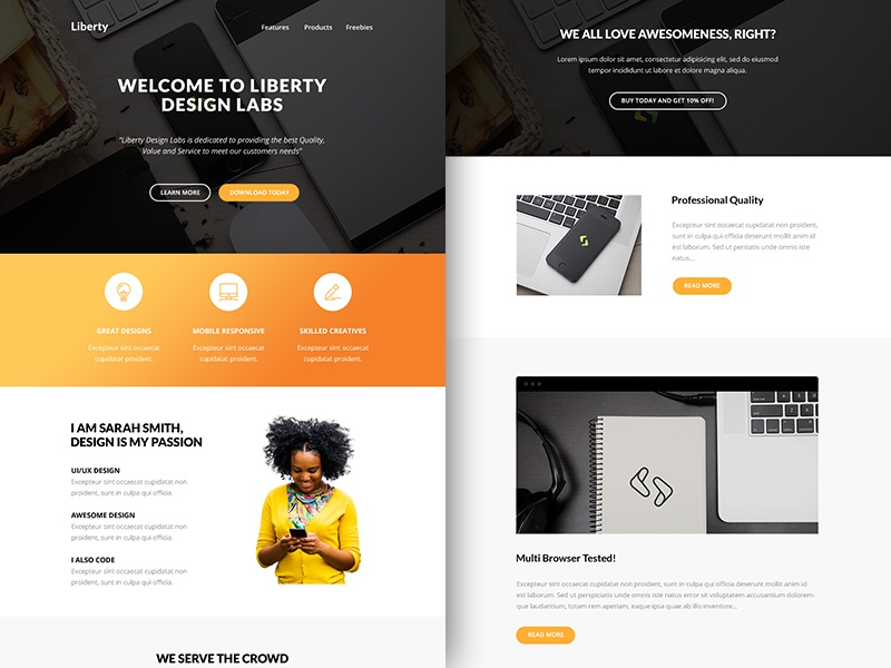 Freebie PSD+Sketch: Liberty (Responsive Html Email Newsletter) themeforest template sketch rocketway psd newsletter mailchimp html freebie email download campaignmonitor
