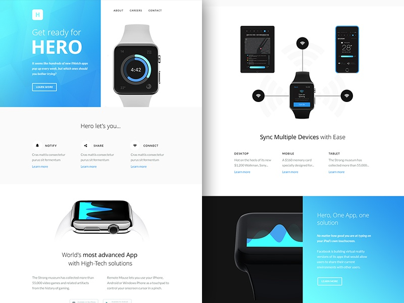 Freebie PSD+Sketch: Hero (Responsive Html Email Newsletter) themeforest template sketch rocketway psd newsletter mailchimp html freebie email download campaignmonitor