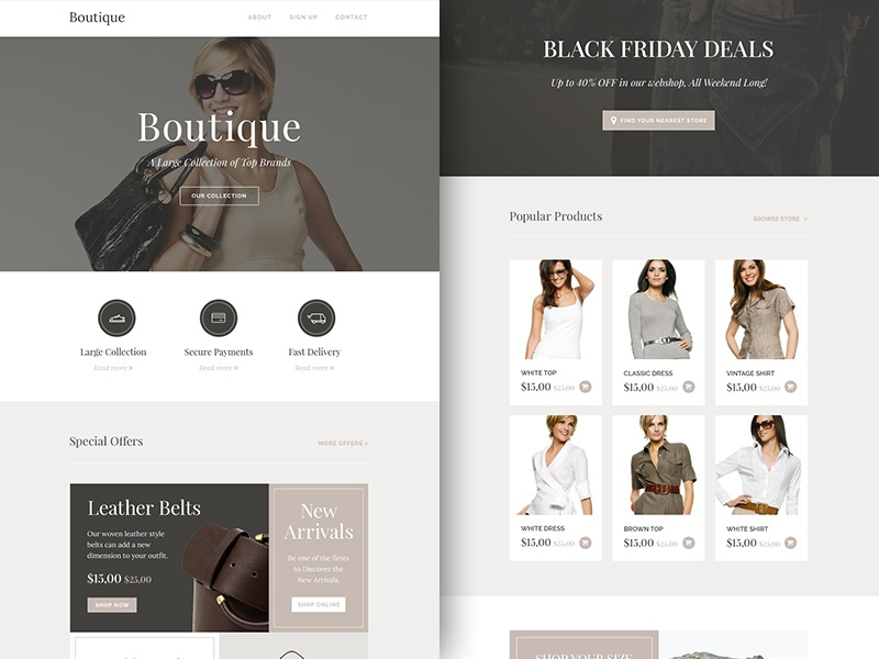 Freebie Psdsketch Boutique Responsive Html Email Newsletter By
