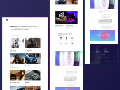 makemepulse's landing page portfolio minimal userinterface website ux user interface interface ui webdesign design