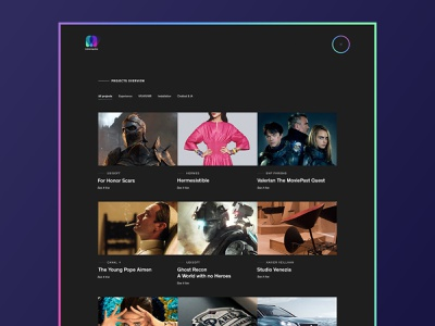 makemepulse's project page portfolio layout minimal userinterface website ux ui user interface interface webdesign design