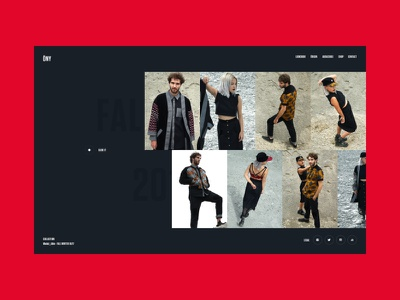Ony France — Lookbook FW 16'/17' web design layout userinterface ui design website user interface interface webdesign