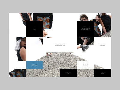 Ony France — Lookbook FW 16'/17' experiment fashion userinterface ux minimal interface web design layout website user interface ui webdesign design