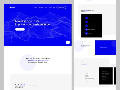ELEVATE — AGENCY data analytics blue landing page design landing page design ui webdesign interface user interface website ux userinterface web design layout minimal portfolio color photography scroll animation