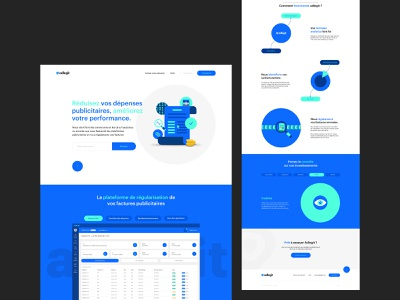 ADLEGIT — LANDING PAGE branding illustration colors analytics landingpage concept web design layout minimal userinterface website ux user interface interface green black and blue black webdesign ui design