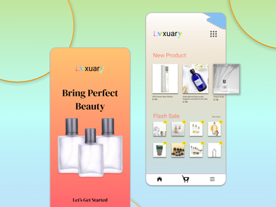 Perfume Concept App app ui