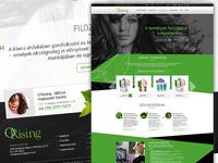 Orising shape flower black green beauty webdesign