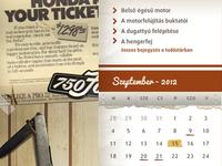 Honda4 red webdesign calendar paper wood list