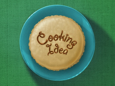 "Logo ""Cooking Idea"" design icon web illustration typography logo"