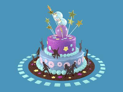 День торта 3D-model, НТВ-Стиль ntv ntv-style design graphic illustration cinema 4d 3d tv