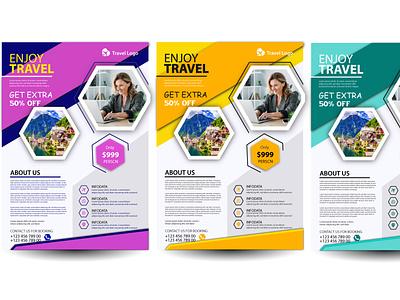 Corporate flyer brochure flyer minimal vector design