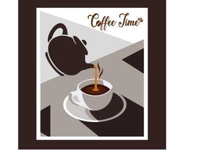 A cup of Poured Coffee poured coffee artwork hot coffee creative a cup of tea tea illustration art illustrator portrait vector illustration vector vector art yummy menu creative  design design drinks coffeeshop coffee bean coffee coffee cup