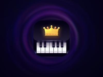 Mobile App Icon - Piano app icon piano keys premium crow realistic piano icon mobile