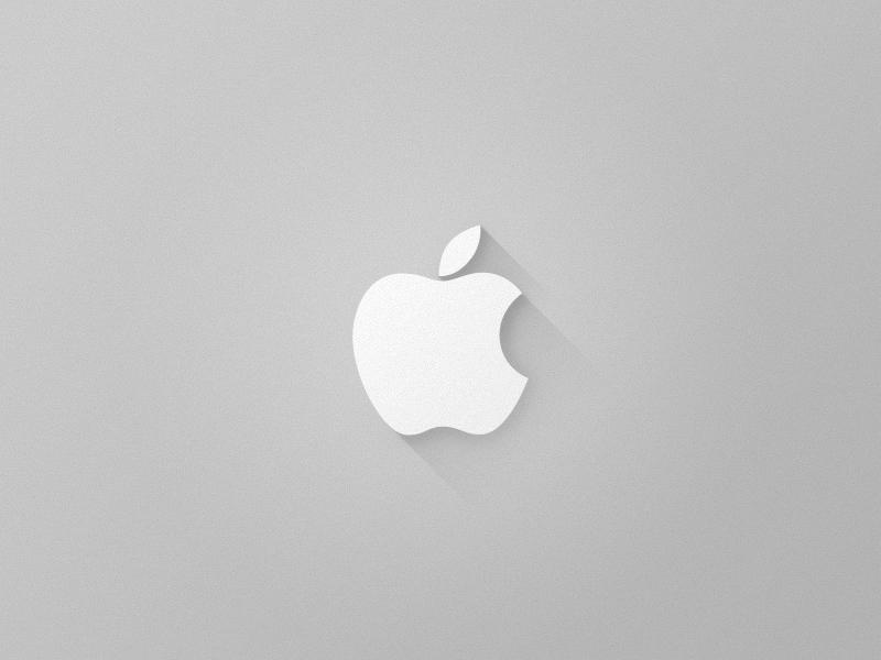 Apple apple logo macbook iphone ipad ios grey shadow flat simple