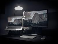 Workspace workspace workplace macbook dell wacom lamp design eldin