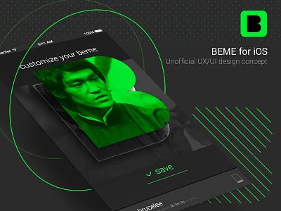 BEME app design concept iphone ios interaction ux ui unofficial concept design app beme