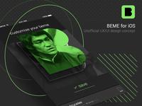 BEME app design concept