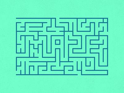 Maze box path outline graphic design maze
