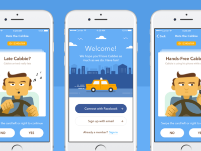 Taxi Rating App Design
