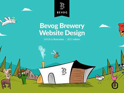Bevog Brewery Website Design monster punk trash crazy brewery beer web website illustration ux design ui