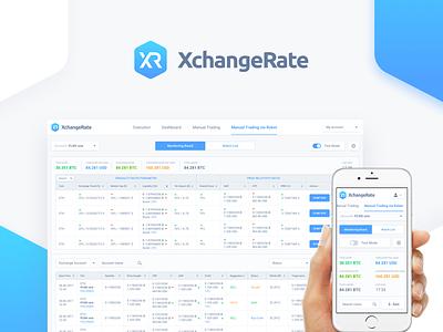 Cryptocurrency Trading Platform Website dashboard robot trading bitcoin cryptocurrency ux ui platform web website