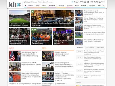 Klix.ba 2013 Design bosnia design news frontpage webdesign news portal klix.ba klix