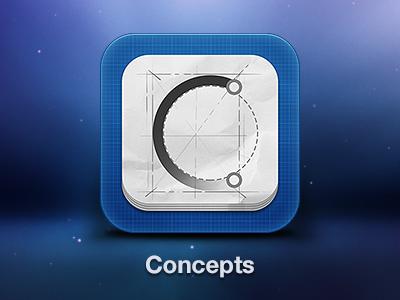 iPad app icon design ipad ios icon app application design concept concepts sketch drawing blue