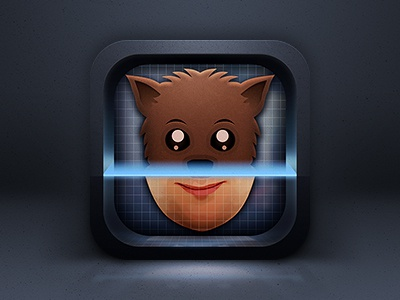 iOS app icon ios icon app animal human face recognition match laser scan