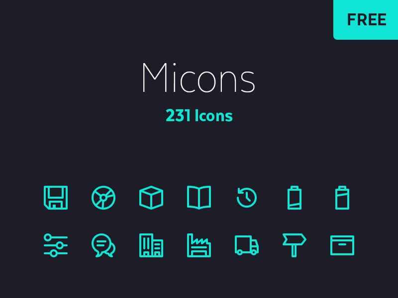 231 Icon Set resource svg free design freebie 231 set icons micons