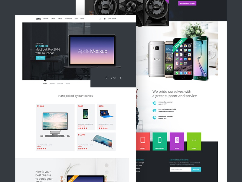 Ecommerce Landing Page [PSD] colors flat clean photoshop design resource free psd page landing ecommerce