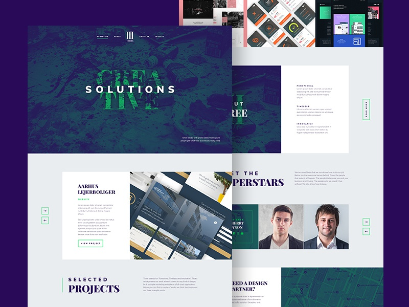 Agency Landing Page [PSD] web design creative dark beautiful clean flat photoshop free resource psd landing page agency