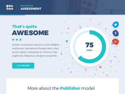 Tribe Assessment simple clean flat blue colorful fun test ui quiz assessment