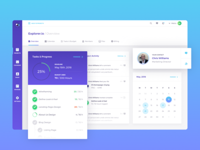 Observatory - Client Collaboration Tool ux gradients dark light project management freelance client ui dashboard