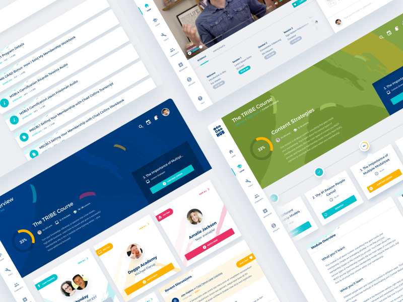 TRIBE Hub design illustrations colors light learn course dashboard ux ui hub tribe