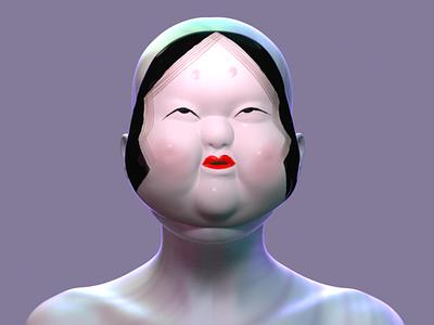 JAPANESE MASK mask digital art vector 3d 3d artist graphist design ui ux icon minimal flat illustration branding 3d art ui design web maya redshift render