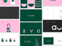 Avocado ui logo brand icon branding typography interface design vector illustration
