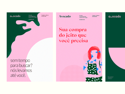 Avocado Explorations branding logo delivery redhead woman illustration wash graphicdesign graphic poster texture woman avocado colors design vector illustration