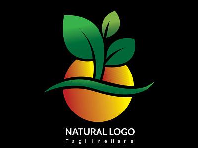 Natural Logo Design natural illustration graphic design design branding business logo vector