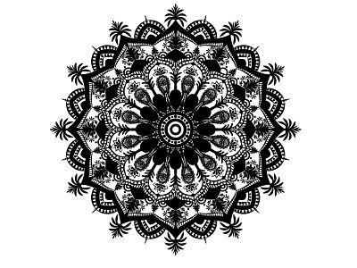 Mandala Design beautiful mandala illustration graphic design business logo design branding vector