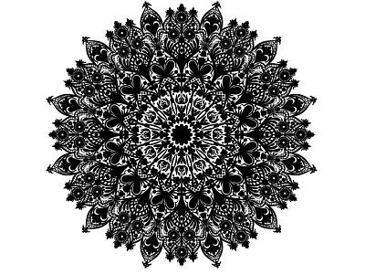 Black And White Mandala Design white illustration graphic design business logo design branding vector