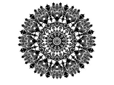 Black And White Creative Mandala creative typography illustration graphic design business logo design branding vector