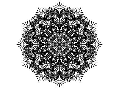 Black And White Vector Mandala element mandala typography ux ui illustration graphic design business logo design branding vector