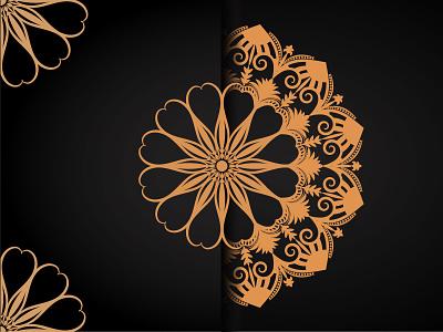 Abstract luxury Mandala abstract element mandala luxury typography ux ui illustration business graphic design design logo branding vector