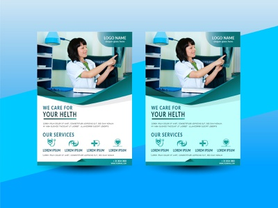 Flyer helth doctor flyer ui business logo graphic design design branding vector