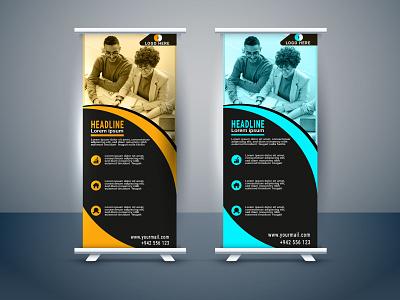 Roll Up Banner flyer web banner roll up banner typography ux ui illustration business logo graphic design design branding vector