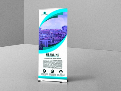 Roll up banner web banner flyer roll up banner typography ux ui illustration business logo graphic design design branding vector